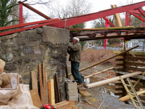Contractor Randy Myer is determined to get the restoration of Woody's Camelback Bridge done this winter.
