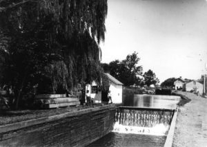 The Solebury Township Historical Society's new collection of videos and oral histories contains images of Canal sites that have disappeared. This is a John Anderson photograph of Lock 10 in New Hope, now covered by Main Street.
