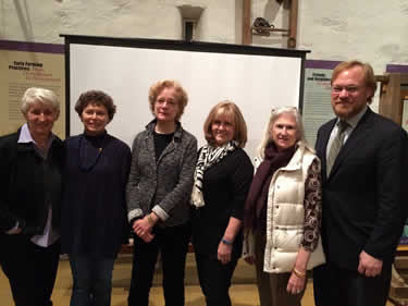 New Hope for Our Canal was honored at the Annual Meeting. From left to right: Committee members Geri Delevitch, Judy Franlin, Susan Taylor, Connie Gering, Dee Dee Bowman, and Friends' President Brett Webber.