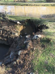 Culvert collapse in Raubsville