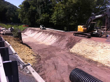 The Cuttalossa Creek culvert project is almost complete.