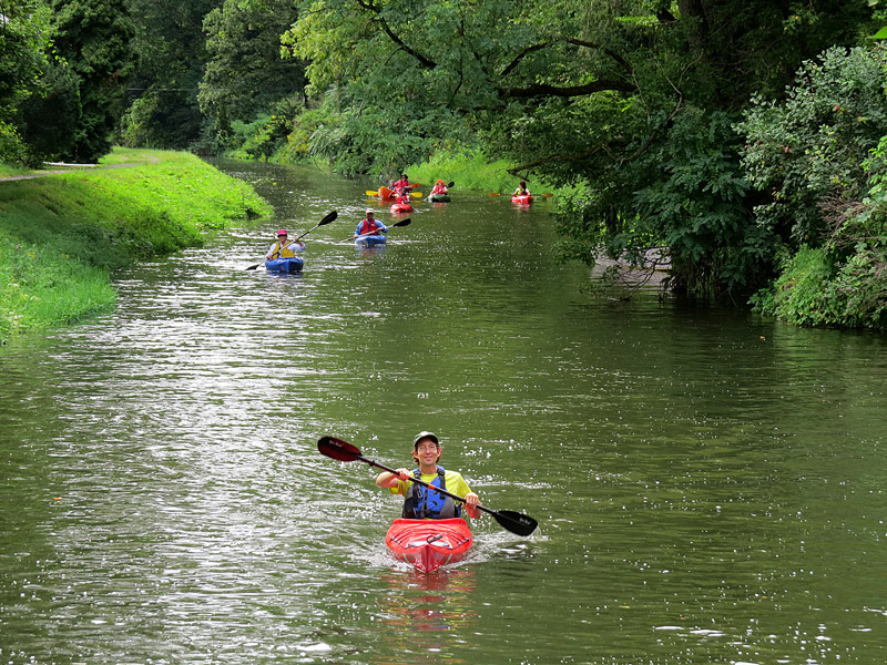 kayakers on delaware canal