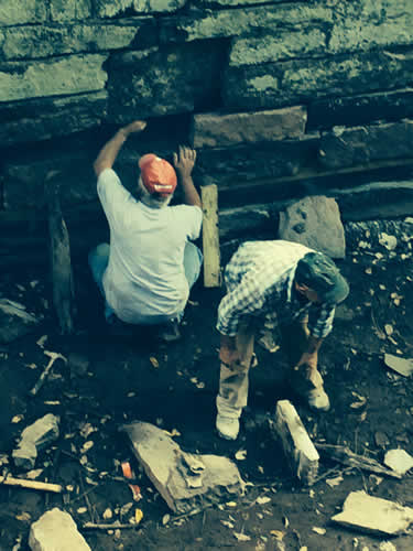 timber sill repair by Bi-State masons at loclks 15/16 in Smithtown