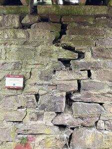 spahr's bridge crack in abutment
