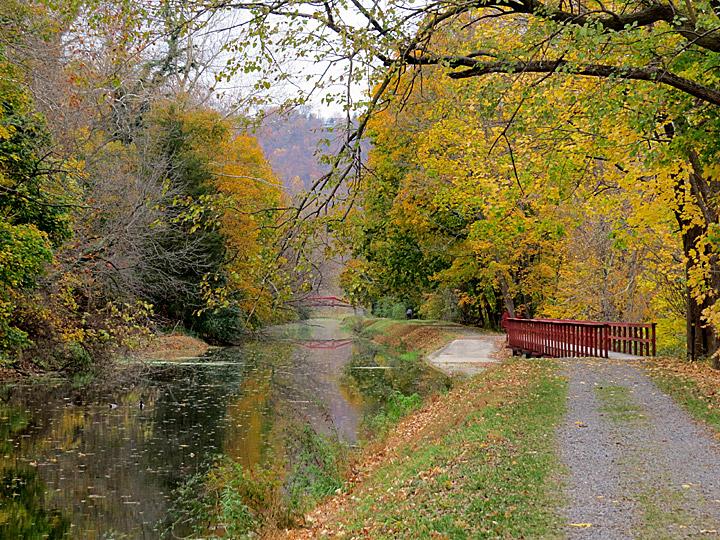 spillway looking north raubsville