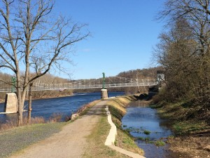 Looking south from Lock 12 in Lumberville