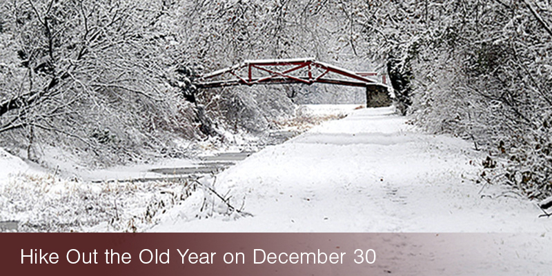 hike out the old year on delaware canal