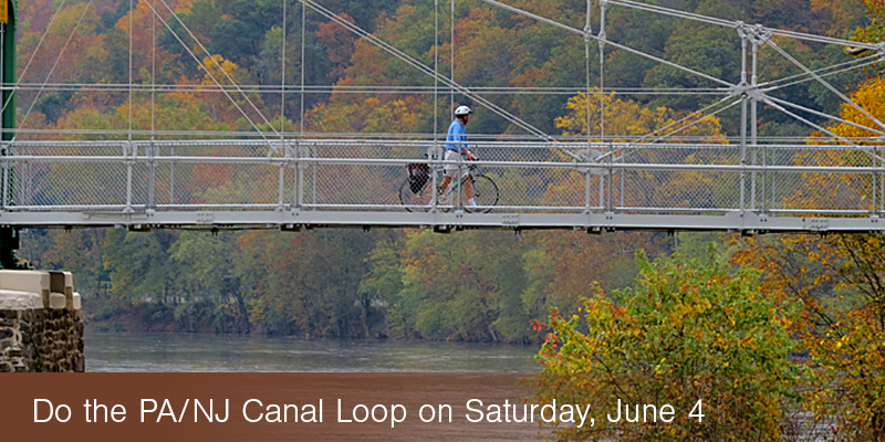 Do the PA/NJ Canal Loop on June 4