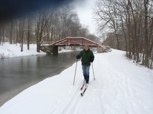 cross country skiing on the canal