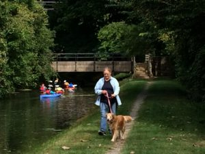 kayaking and dog walking
